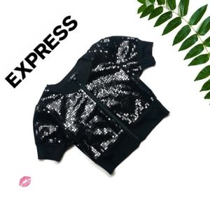 Express Sequin Crop Top